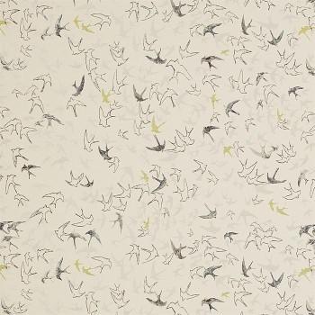 Tissu Song Birds Ecru - Sanderson
