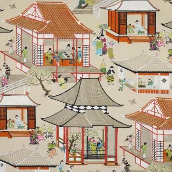 Madame de Butterfly rouge de Chine