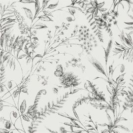 Fern Toile Etched Black