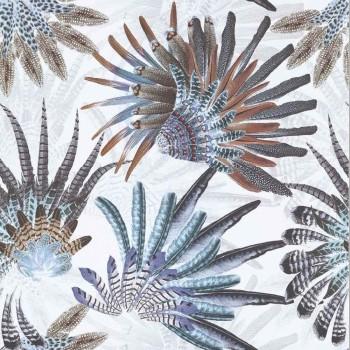 Papier peint Touraco Celadon - Acajou - Casamance