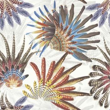 Papier peint Touraco Multicouleurs - Acajou - Casamance