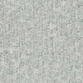 Papier peint Tali Vert de gris - Acajou - Casamance