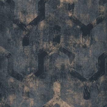 Papier peint Ténébreuse Anthracite - Vertige - Casamance