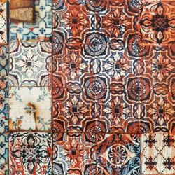 Papier peint Porto Mandarine Jean-Paul Gaultier
