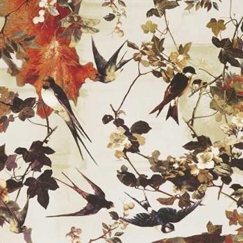 Papier peint Hirondelles Printemps Jean-Paul Gaultier