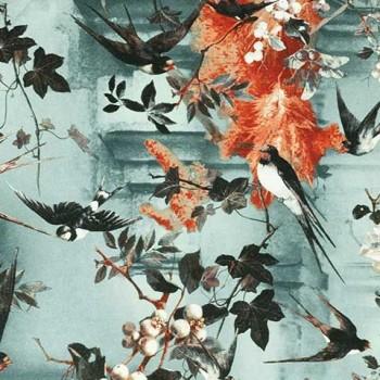 Papier peint Hirondelles Été Jean-Paul Gaultier