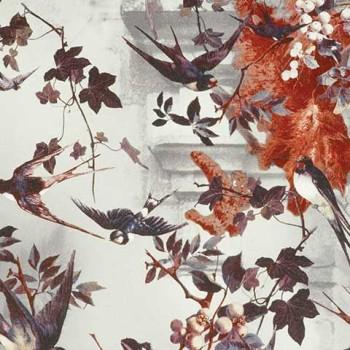 Papier peint Hirondelles Hiver Jean-Paul Gaultier