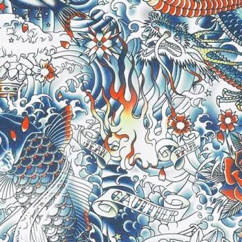 Papier peint Irésumi Mulitcolor Jean-Paul Gaultier