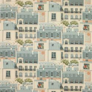 Tissu Les toits de Paris Vert de gris