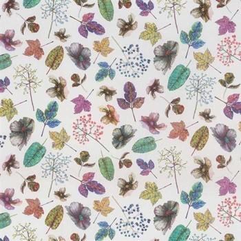 Tissu Woodland Purple Green