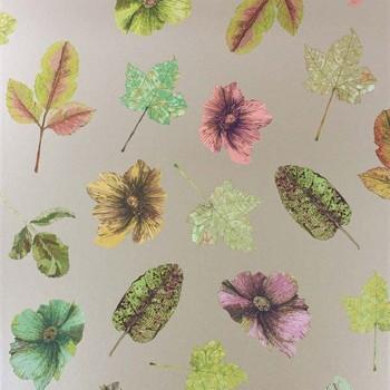 Papier peint Woodland Lime / Russet / Plum / Gilver