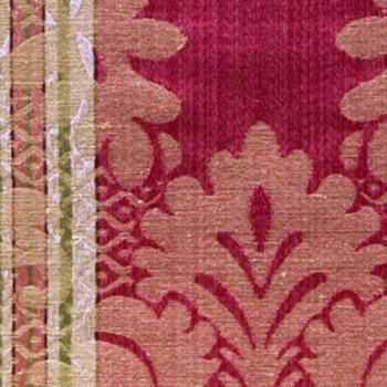 Tissu Lourmarin Argent / Or
