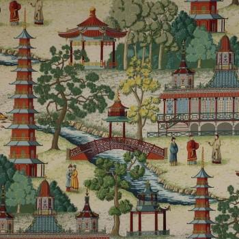 Tissu Pagoda Rouge