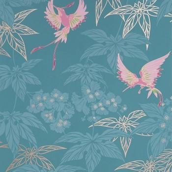 Grove Garden Teal / Pink