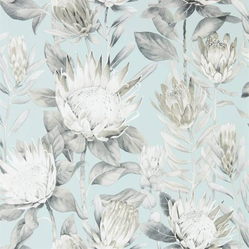 King Protea Aqua / Linen
