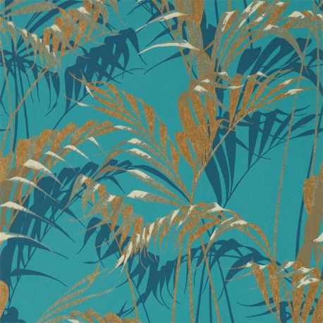 Palm House Teal / Gold