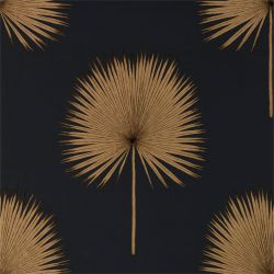 Fan Palm Charcoal / Gold