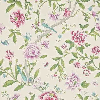 Porcelain Garden Magenta/Leaf Green