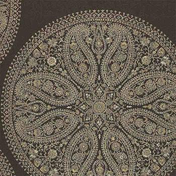 Paisley Circles Charcoal