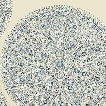 Paisley Circles Blue