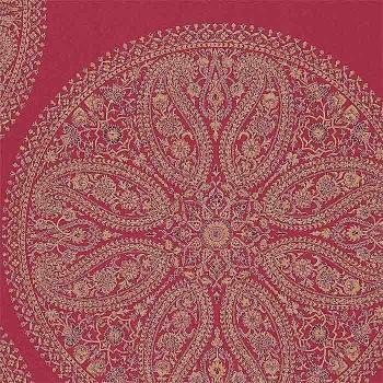 Paisley Circles Red